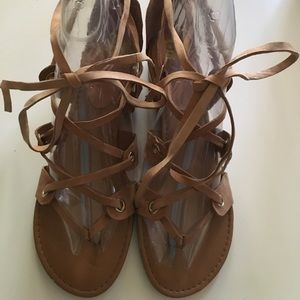 NWT - Leather between the Toe Sandal - never worn!